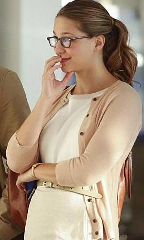Melissa Benoist with Tommy Hilfiger Cotton Linen Dress in Supergirl