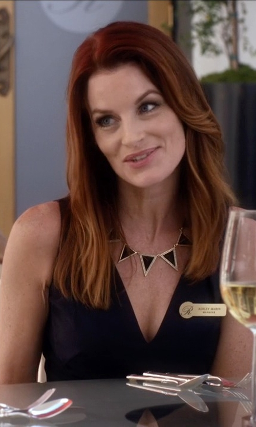 Laura Leighton with Halston Heritage  Sleeveless V-Neck Cocktail Dress in Pretty Little Liars