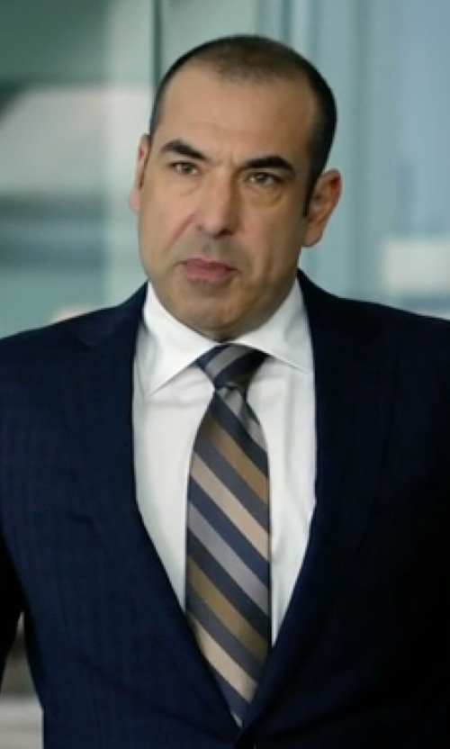 Rick Hoffman with Altea Ticino 1 Bold Stripe Tie in Suits