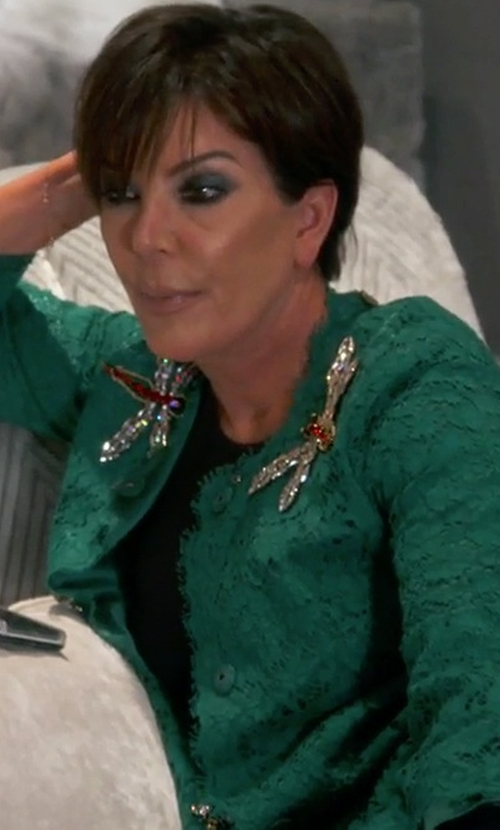 Kris Jenner with Dolce & Gabbana Floral Lace Midi Coat in Keeping Up With The Kardashians