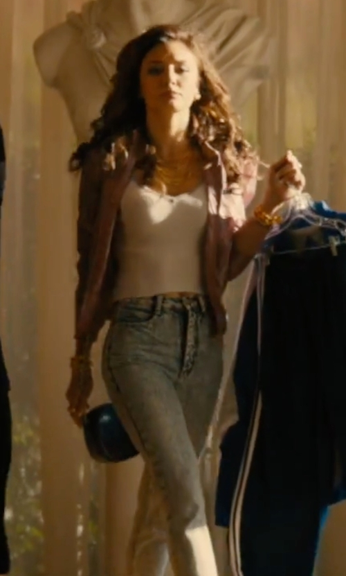 Christine Evangelista with Blank NYC Skinny Denim Jeans in Bleed for This