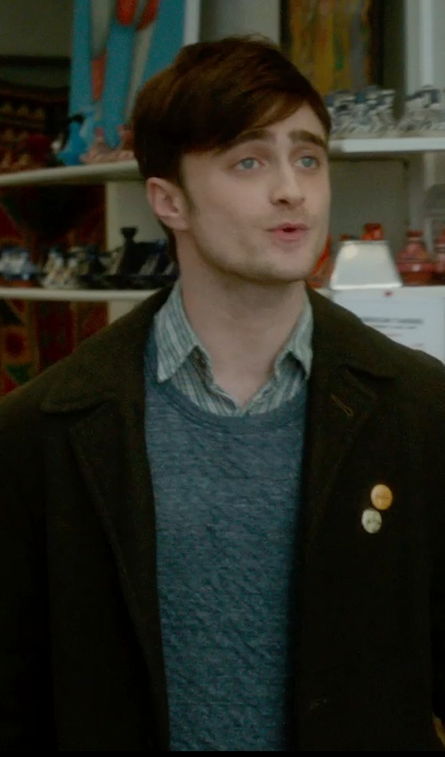 Daniel Radcliffe with Drumohr Crew Neck Sweater in What If