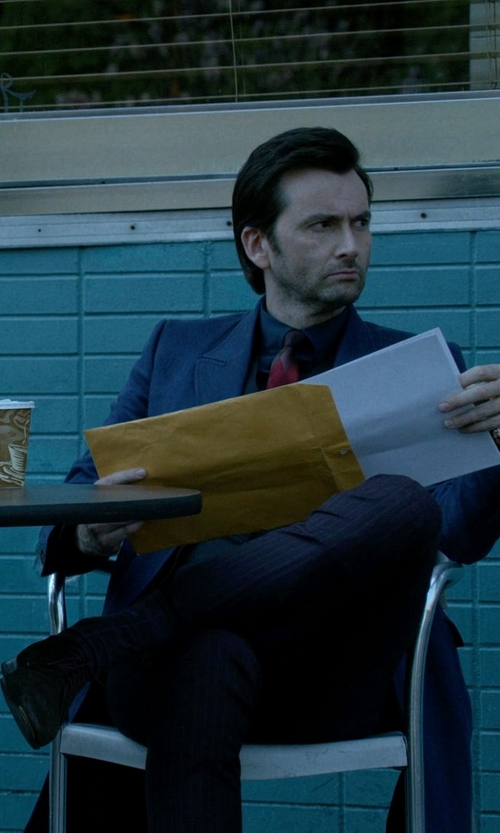 David Tennant with Paul Smith Men's Brown Suede 'Aldrich' Brogues Shoes in Jessica Jones