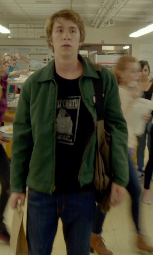 Thomas Mann with RVCA Men's Daggers Denim Jean in Me and Earl and the Dying Girl