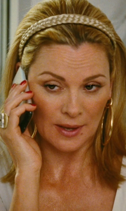 Kim Cattrall with Natasha Braided Metallic Mesh Headband in Sex and the City