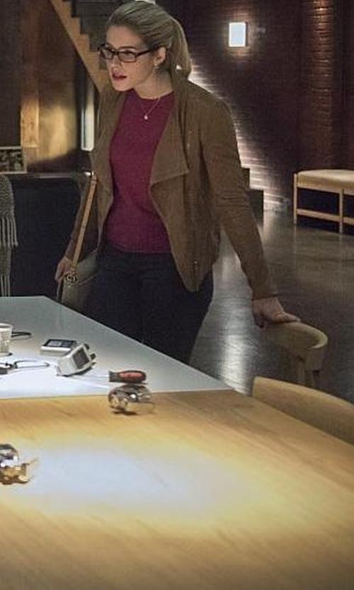 Emily Bett Rickards with Mackage Pina-A Jacket in Arrow
