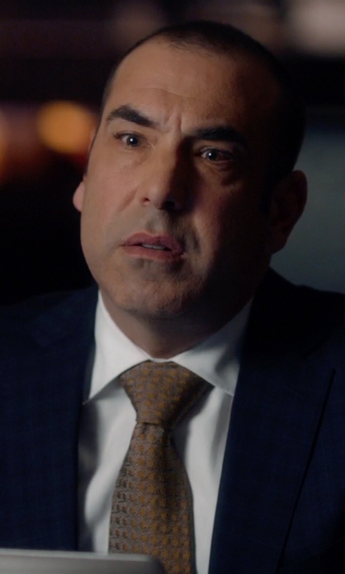 Rick Hoffman with Canali Windowpane Travel Suit in Suits