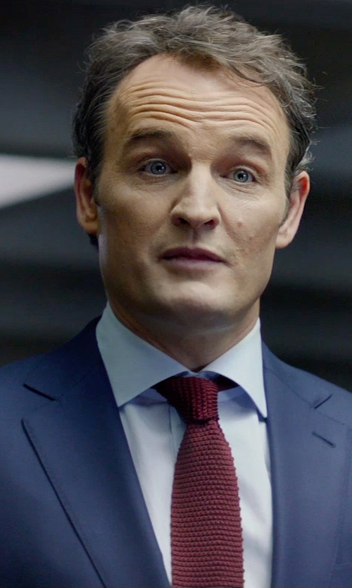 Jason Clarke with Boss Hugo Boss Trim Fit Wool Suit in Terminator: Genisys