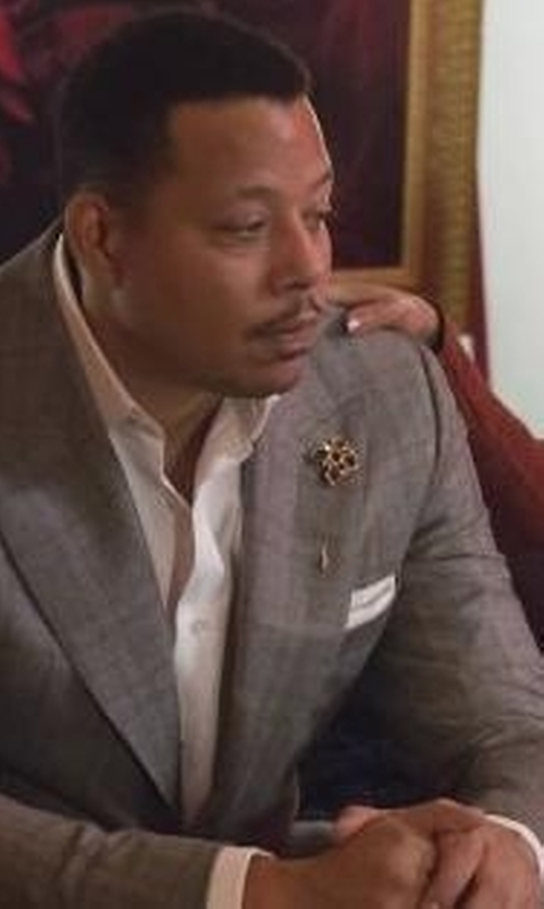 Terrence Howard  with Vince Camuto Men's Windowpane Slim Fit Suit in Empire