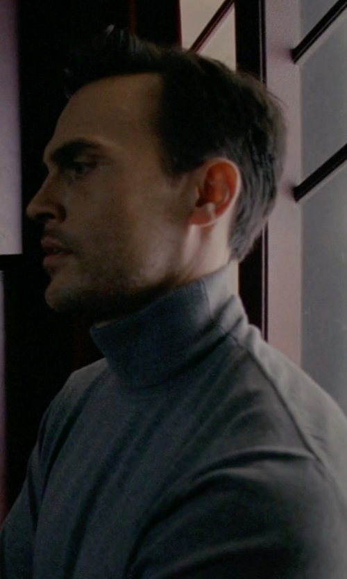Cheyenne Jackson with Emporio Armani Turtleneck Sweater in American Horror Story
