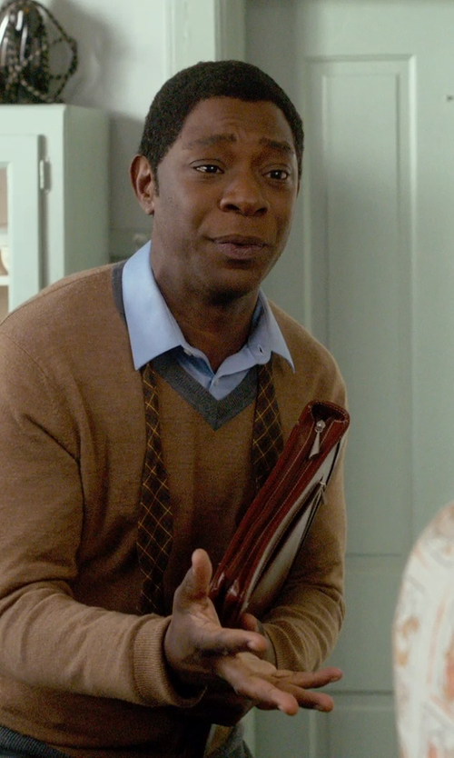 Nelsan Ellis with Glanshirt Kent Pinstripe Shirt in Get On Up
