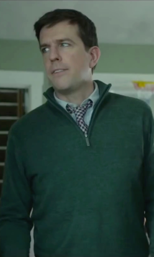 Ed Helms with Nati Con La Camicia Check Design Tie in Love the Coopers