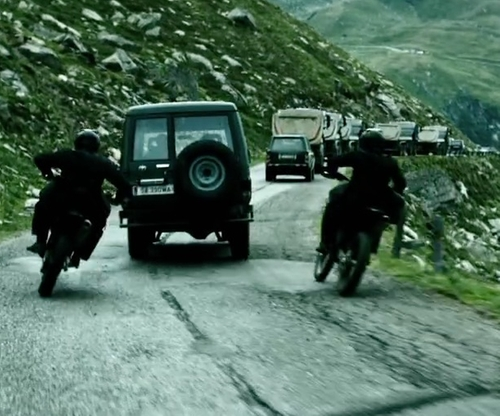 Unknown Actor with Toyota 1995 Land Cruiser Base SUV in Point Break