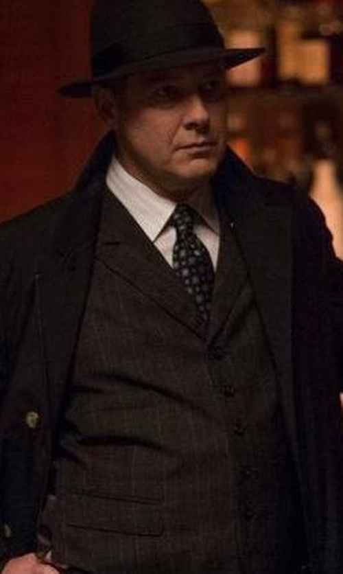 James Spader with Nordstrom Square Medallion Silk Tie in The Blacklist