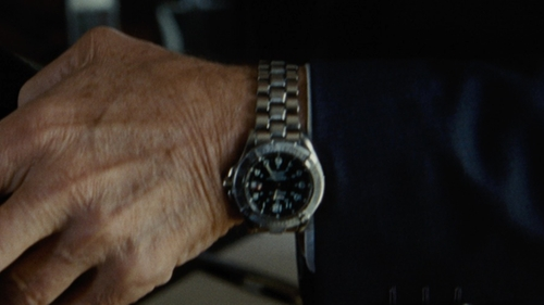 Tommy Lee Jones with Breitling Superocean Stainless Steel Automatic Black Dial Watch in Jason Bourne