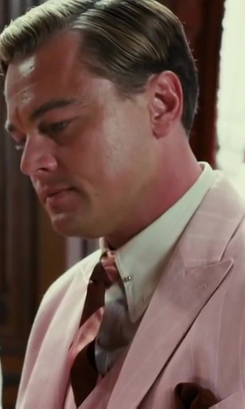 Leonardo DiCaprio with Isaia Piqué Pocket Square in The Great Gatsby