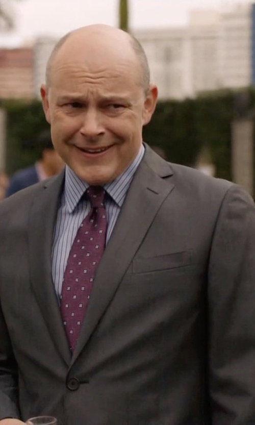 Rob Corddry with Neiman Marcus Two-Piece Neat Wool Suit in Ballers