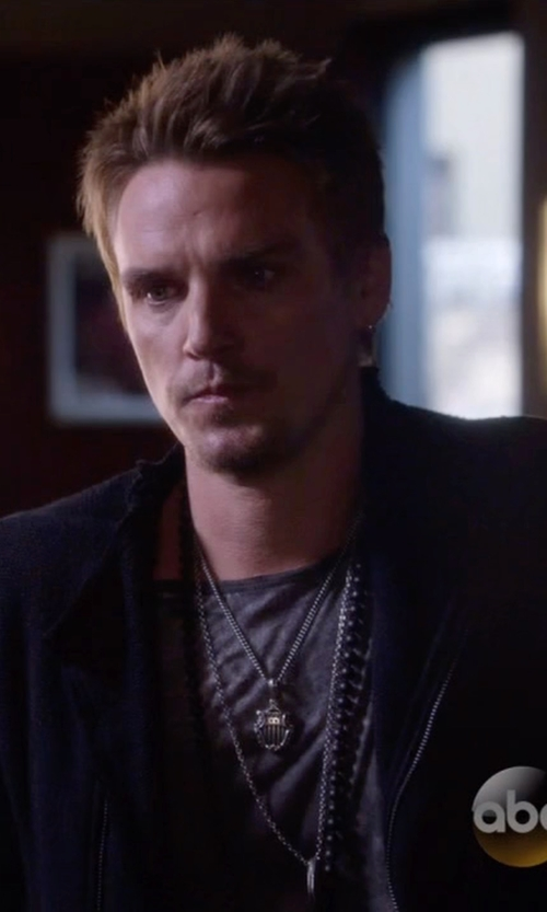 Charlie Bewley with Kohl's Diamond Shield Pendant Necklace in Nashville