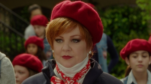 Melissa McCarthy with Village Hat Shop Wool Fashion Beret in The Boss