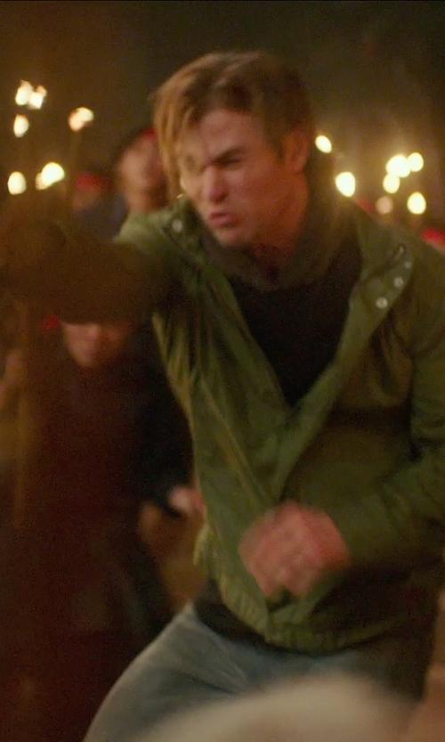 Chris Hemsworth with G-Star Raw 'Filch' Nylon Jacket in Blackhat