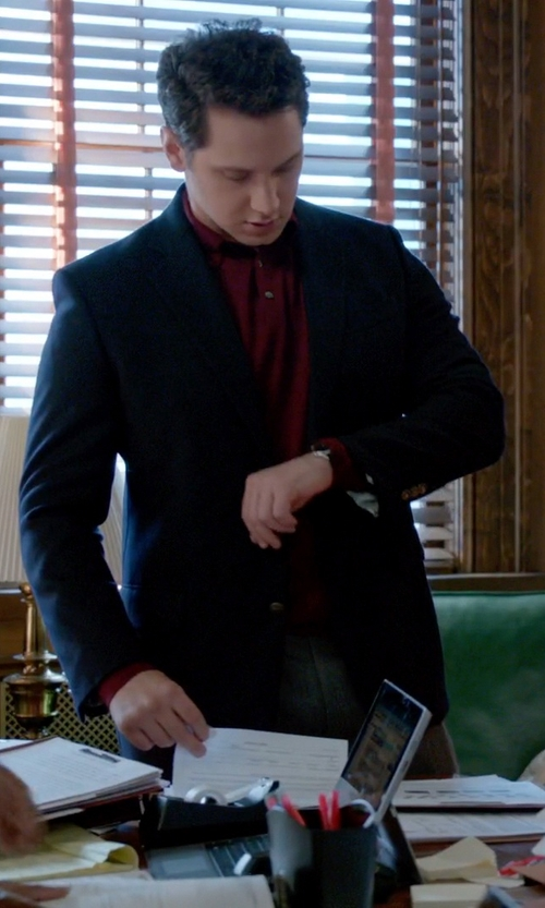 Matt McGorry with Hugo Boss 'The James' Virgin Wool Sport Coat in How To Get Away With Murder
