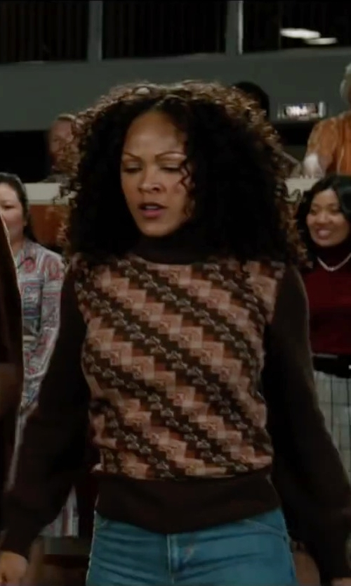 Meagan Good with Mother The Charmer Skinny Jeans in Anchorman 2: The Legend Continues