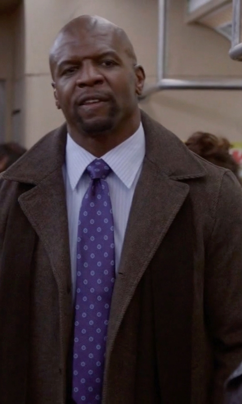 Terry Crews with Billy London Wool-Blend Overcoat in Brooklyn Nine-Nine