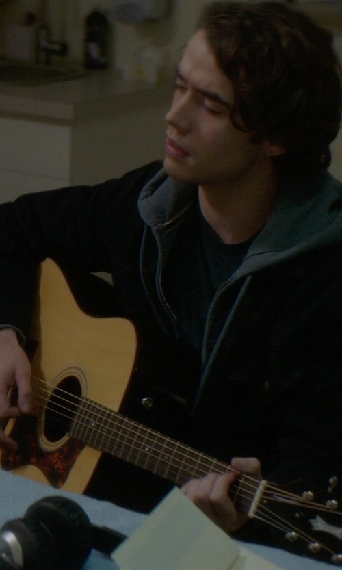 Jamie Blackley with Yamaha FGX730SC Acoustic Electric Guitar in If I Stay