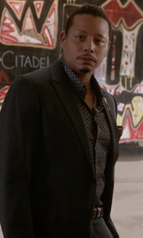 Terrence Howard  with W. Kleinberg Interchangeable Buckles Basic Leather Belt in Empire