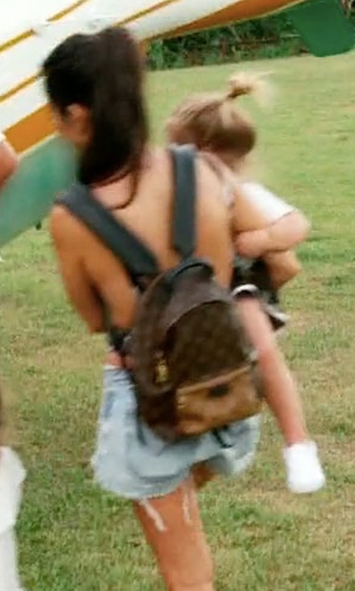 Kourtney Kardashian with Louis Vuitton Palm Springs Backpack in Keeping Up With The Kardashians