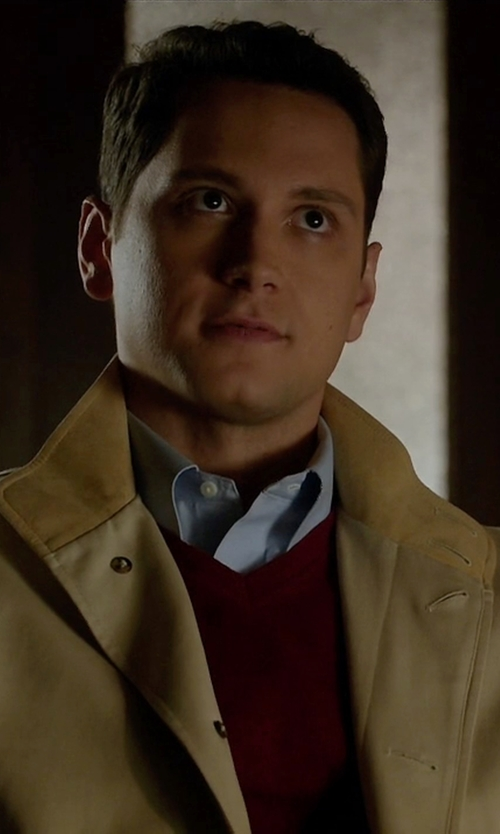 Matt McGorry with Burberry Brit Henry Slim-Fit Stretch-Cotton Dress Shirt in How To Get Away With Murder