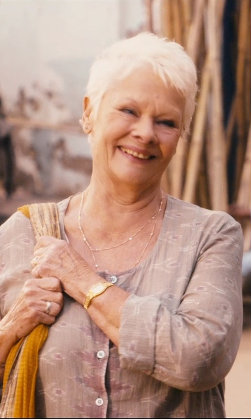 Judi Dench with Lagos Caviar Layered Necklace in The Second Best Exotic Marigold Hotel