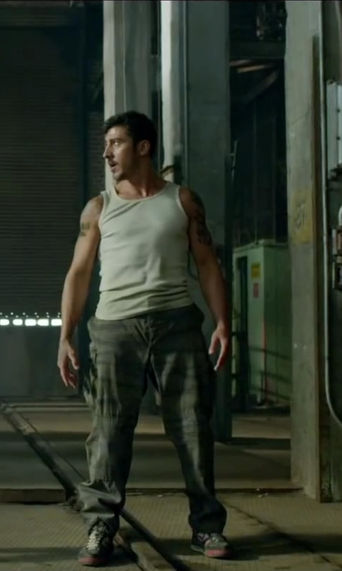 David Belle with Unionbay Survivor Camouflage Cargo Pants in Brick Mansions