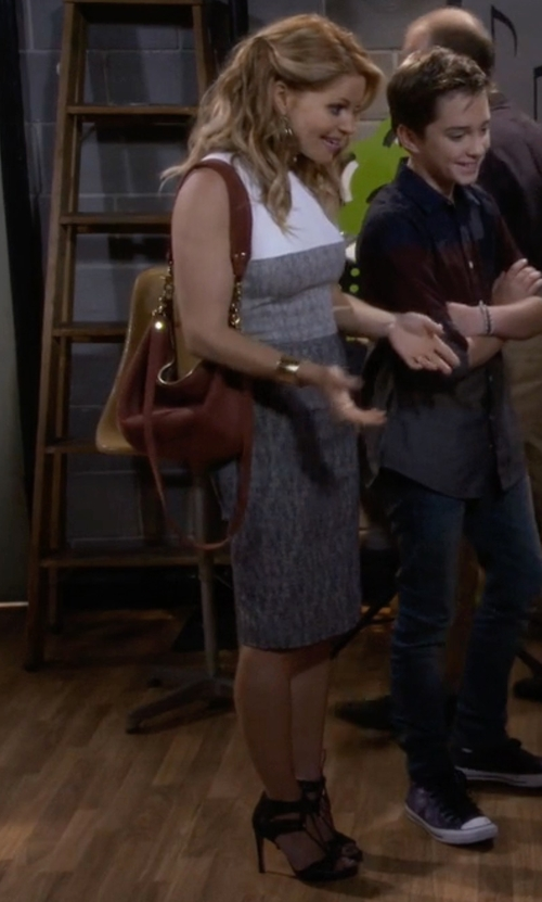 Candace Cameron Bure with Guess Apola T-Strap Sandals in Fuller House