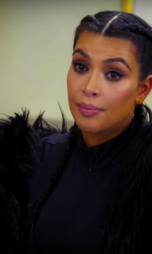 Kim Kardashian West with Rachel Zoe Sagely Vest in Keeping Up With The Kardashians