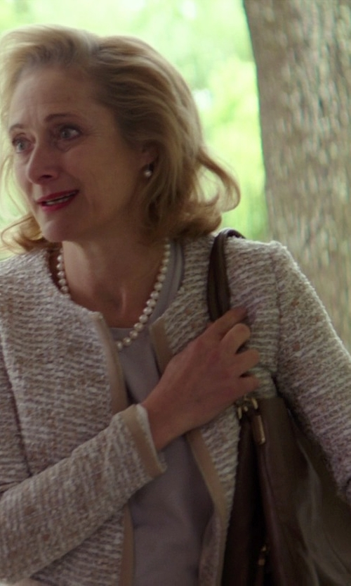 Caroline Goodall with R&R Leather Pocket Leather Tote Bag in The Best of Me