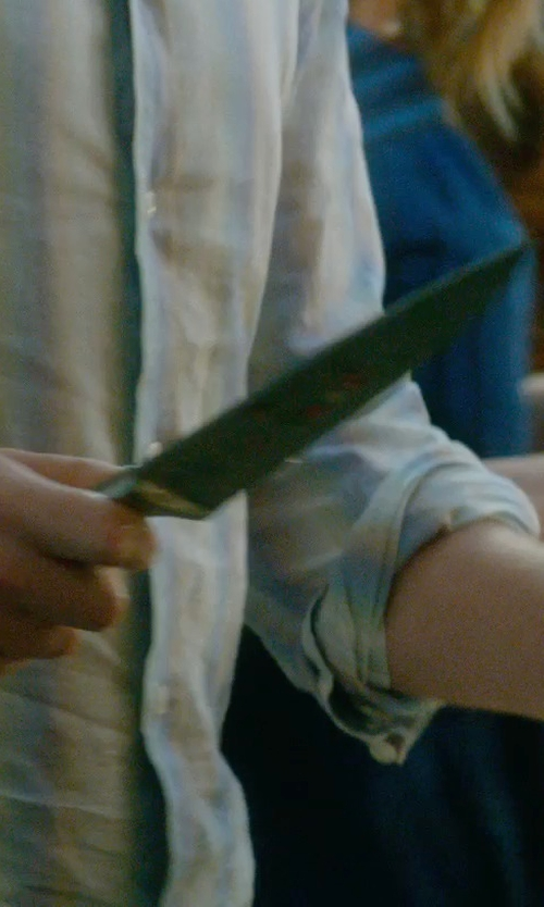 Rafe Spall with Shun Sora Chef's Knife in What If