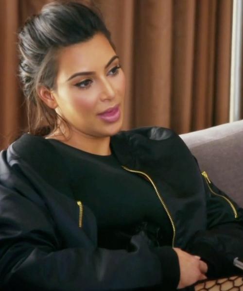 Kim Kardashian West with Vetements Nylon Bomber Jacket in Keeping Up With The Kardashians