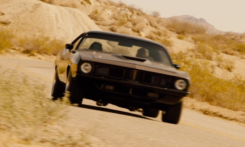 Vin Diesel with Dodge 1970 Charger Coupe in Furious 7