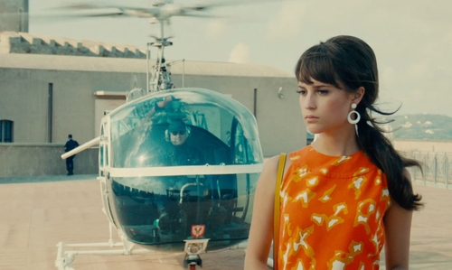 Unknown Actor with Bell 47 Bubble Helicopter in The Man from U.N.C.L.E.