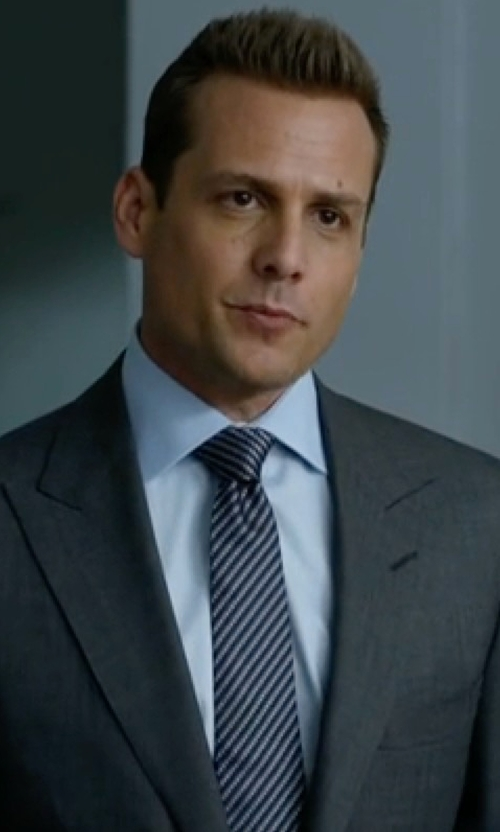 Gabriel Macht with Hugo Boss Diagonal Stripe Silk Tie in Suits