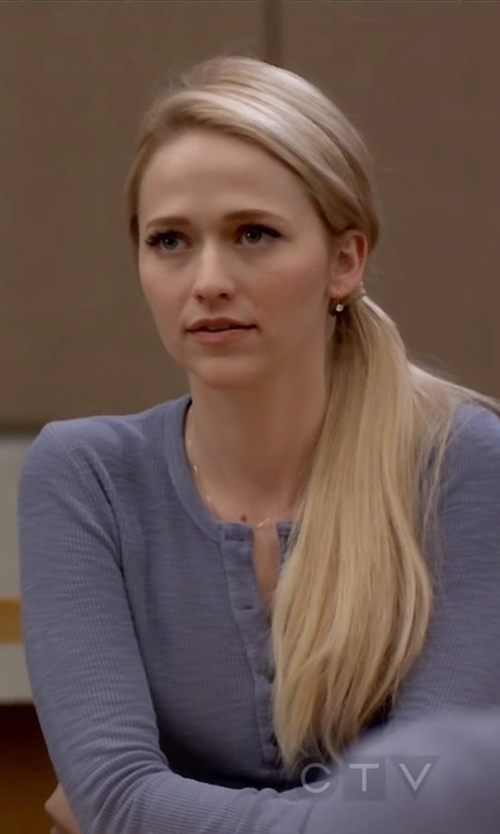 Johanna Braddy with Karen Scott Henley Top in Quantico