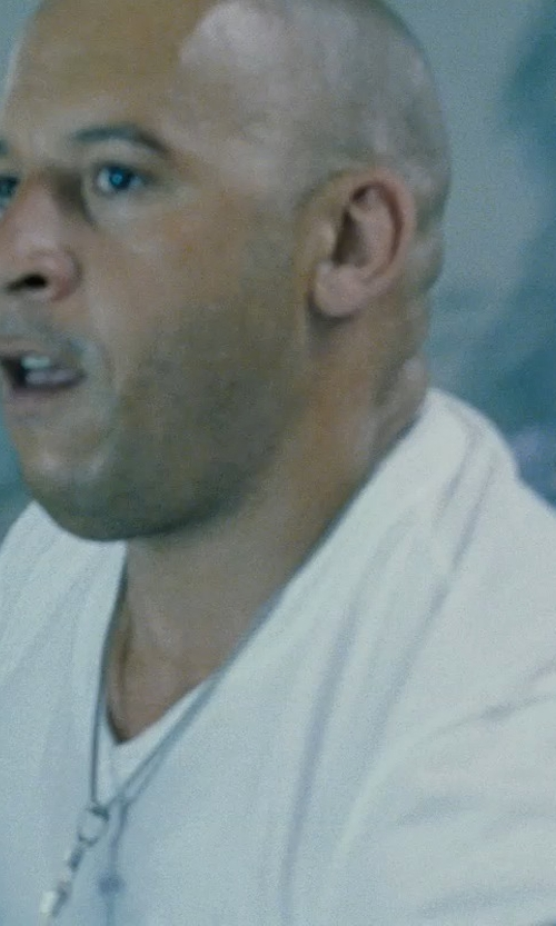 Vin Diesel with Burberry London White V-Neck T-Shirt in Fast Five