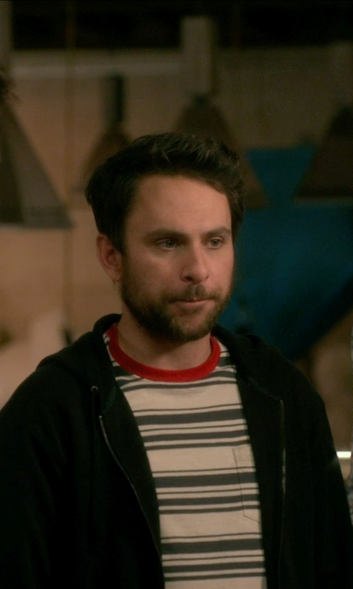 Charlie Day with U.S. POLO ASSN. Engineered Stripe Crew Neck T-Shirt in Horrible Bosses 2