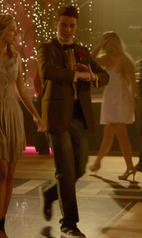 Gabriel Basso with J Brand Jeans Faded Straight Denim Jeans in Barely Lethal