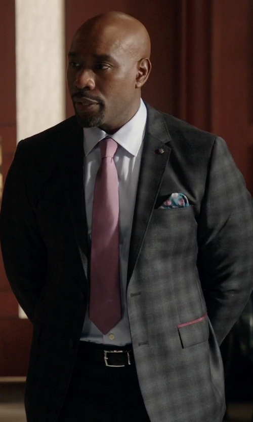 Morris Chestnut with Canali Tartan Suits in Rosewood