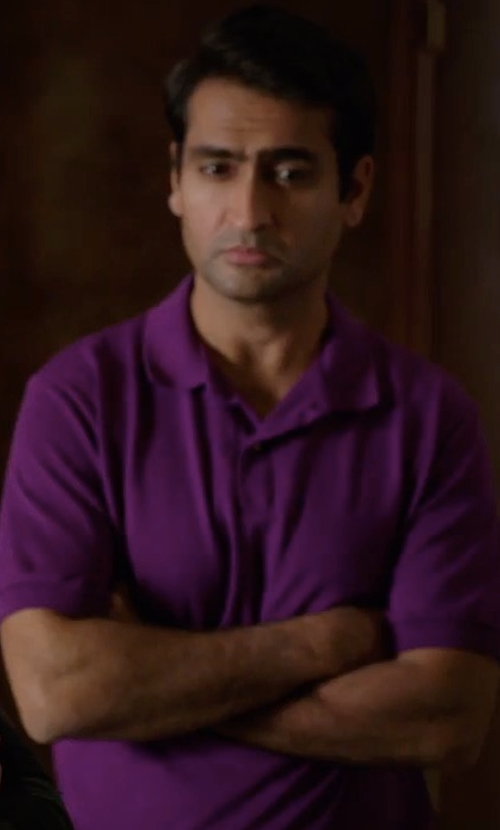 Kumail Nanjiani with Michael Kors Sleek MK Polo Shirt in Silicon Valley