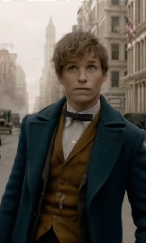 Eddie Redmayne with U.S. Polo Assn. Corduroy Vest in Fantastic Beasts and Where to Find Them