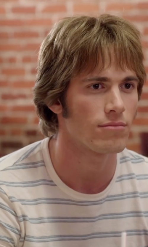 Blake Jenner with Folk Striped T-Shirt in Everybody Wants Some