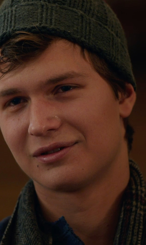Ansel Elgort with RALPH LAUREN BLUE LABEL ribbed beanie in The Fault In Our Stars